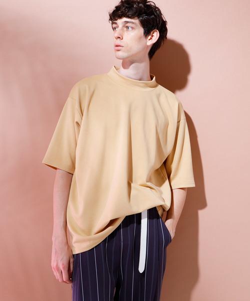 スーパービッグシルエットポンチローマモックネックカットソー 1/2 sleeve (EMMA CLOTHES)
