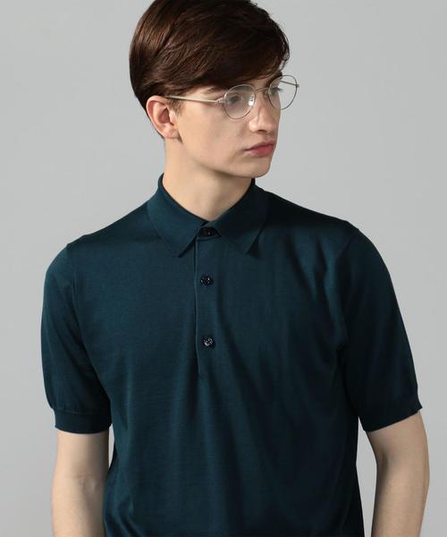 魅力的な シルクコットン ニットポロシャツ, ストラップのBig Brave 76b7e4a5