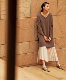 Mila Owen(ミラオーウェン)のサイドロングヘムプリーツスカート(スカート)
