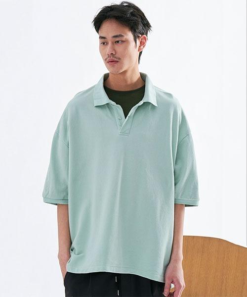 COP コットンワイドポロシャツ