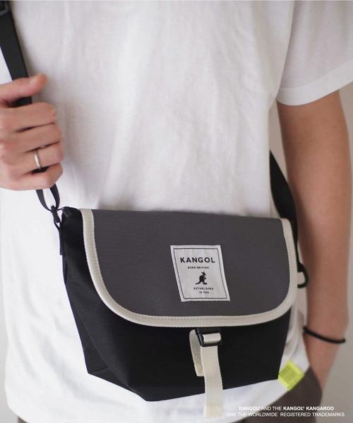 【 KANGOL / カンゴール 】 ワンバックル ミニ メッセンジャー バッグ