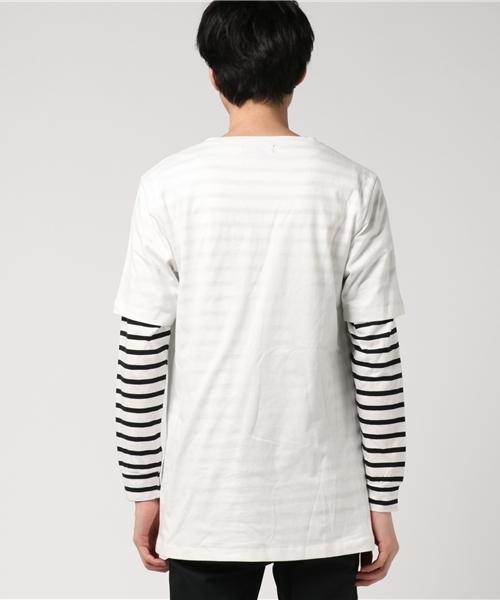 【05 BURNER SELECT】リアルアンサンブル型押しプリントロングTシャツ