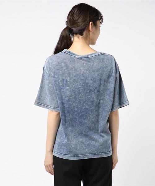 UNDERWRAPS / アンダーラップス CALIFプリント インディゴBOXTシャツ