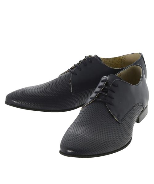 超大特価 アラウンドザシューズ/around the shoes MADE IN PORTUGAL ダイヤ型押しプレーントゥドレスシューズ, レベルアーカイブ 7e6d4f01