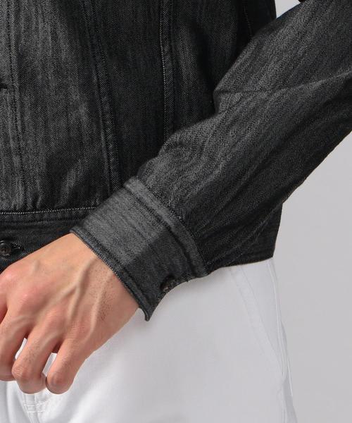 BAGUTTA CLINT コットンシャンブレー トラッカージャケット
