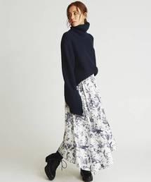 Mila Owen(ミラオーウェン)のデザインヘムウエストシャーリングスカート(スカート)