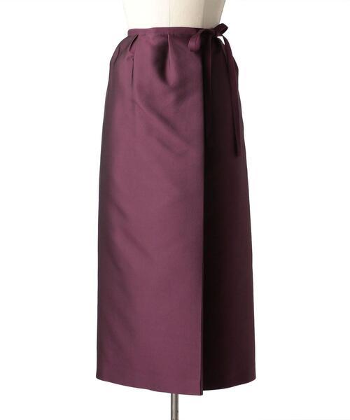 Drawer ポリエステルシルクツイルスカート
