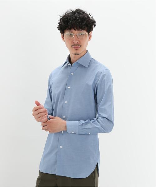 【ドレスシャツ】セミワイド シャンブレー