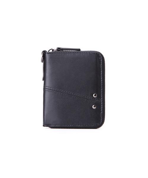 本革ミニウォレット ショート ミニ財布 2つ折り レザーウォレット スキミング防止