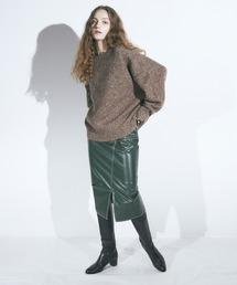 エコレザータイトスカートグリーン