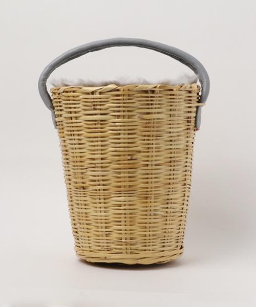 collex(コレックス)の「【Fatima Morocco/ファティマ モロッコ】ワンハンドルラタンバスケットAW-15(かごバッグ)」 グレー