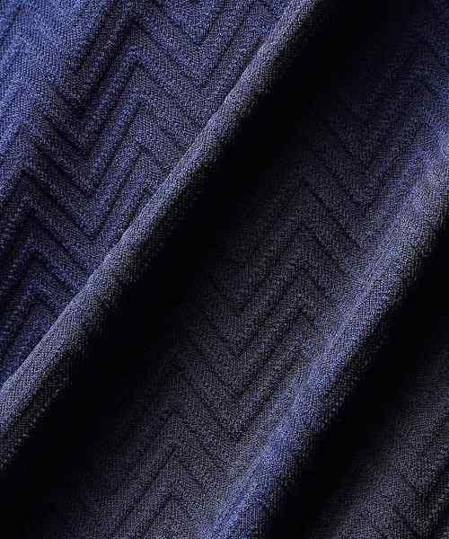 ジグザグジャカードワイヤーデザインスキッパー半袖シャツ(SS)