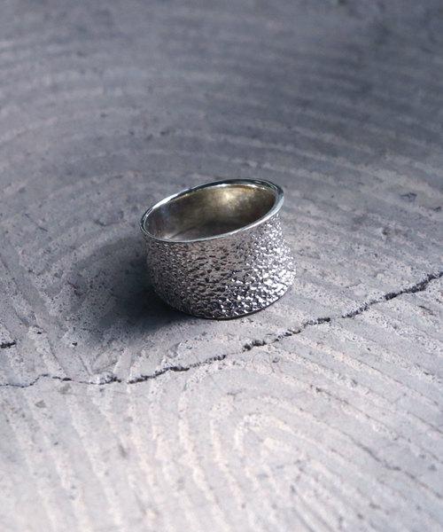 【YArKA/ヤーカ】silver925 Crumpled paper pattern ring [kusha]/くしゃくしゃ紙模様リング シルバー925
