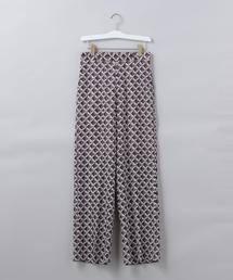 <6(ROKU)>SQUARE PRINT PANTS/パンツ