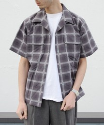BURLAP OUTFITTER / バーラップアウトフィッター ショートスリーブキャンプシャツ プリンテッド S/S CAMP SHIRTS PRINTEDチェック