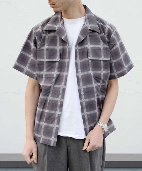 BURLAP OUTFITTER / バーラップアウトフィッター ショートスリーブキャンプシャツ プリンテッド S/S CAMP SHIRTS PRINTED