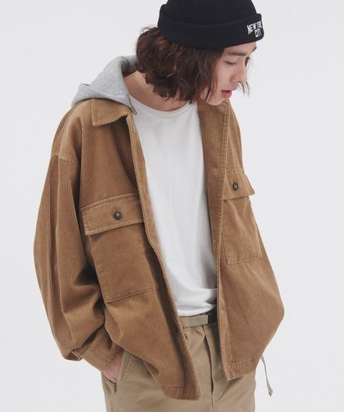 Dickies/ディッキーズ フード付き2wayコーデュロイオーバーサイズワークジャケット