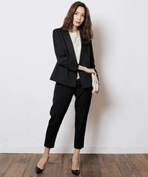 DRESS LAB(ドレスラボ)のジャケット&レースブラウスセットアップフォーマルパンツスーツ【3点セット】(セットアップ)