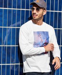 ロゴ×フォトプリント オーバーサイズクルーネック長袖Tシャツ /グラフィック / アート / ロック / バックプリント / フォト / アメリカンその他4