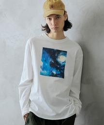 ロゴ×フォトプリント オーバーサイズクルーネック長袖Tシャツ /グラフィック / アート / ロック / バックプリント / フォト / アメリカンその他8