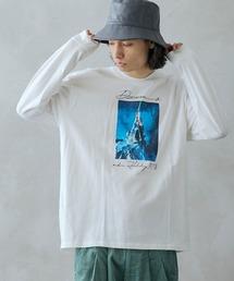 ロゴ×フォトプリント オーバーサイズクルーネック長袖Tシャツ /グラフィック / アート / ロック / バックプリント / フォト / アメリカンその他12