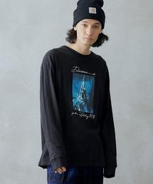 ロゴ×フォトプリント オーバーサイズクルーネック長袖Tシャツ /グラフィック / アート / ロック / バックプリント / フォト / アメリカンその他13