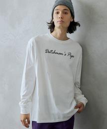 ロゴ×フォトプリント オーバーサイズクルーネック長袖Tシャツ /グラフィック / アート / ロック / バックプリント / フォト / アメリカンその他14