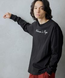 ロゴ×フォトプリント オーバーサイズクルーネック長袖Tシャツ /グラフィック / アート / ロック / バックプリント / フォト / アメリカンその他15