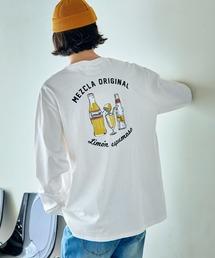 ロゴ×フォトプリント オーバーサイズクルーネック長袖Tシャツ /グラフィック / アート / ロック / バックプリント / フォト / アメリカンその他16