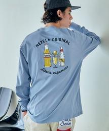 ロゴ×フォトプリント オーバーサイズクルーネック長袖Tシャツ /グラフィック / アート / ロック / バックプリント / フォト / アメリカンその他27