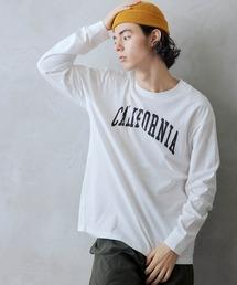 ロゴ×フォトプリント オーバーサイズクルーネック長袖Tシャツ /グラフィック / アート / ロック / バックプリント / フォト / アメリカンホワイト系その他2