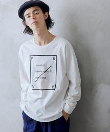 ロゴ×フォトプリント オーバーサイズクルーネック長袖Tシャツ /グラフィック / アート / ロック / バックプリント / フォト / アメリカンホワイト系その他3