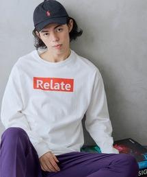 ロゴ×フォトプリント オーバーサイズクルーネック長袖Tシャツ /グラフィック / アート / ロック / バックプリント / フォト / アメリカンホワイト系その他5