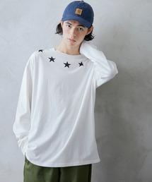 ロゴ×フォトプリント オーバーサイズクルーネック長袖Tシャツ /グラフィック / アート / ロック / バックプリント / フォト / アメリカンホワイト系その他6