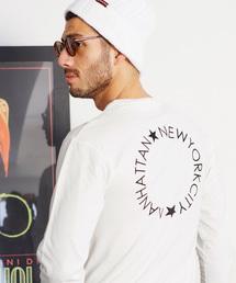 ロゴ×フォトプリント オーバーサイズクルーネック長袖Tシャツ /グラフィック / アート / ロック / バックプリント / フォト / アメリカンホワイト系その他7