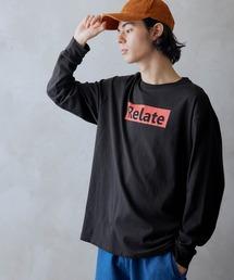 ロゴ×フォトプリント オーバーサイズクルーネック長袖Tシャツ /グラフィック / アート / ロック / バックプリント / フォト / アメリカンブラック系その他5