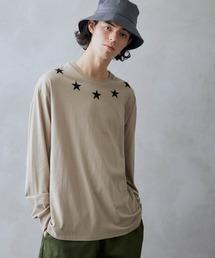 ロゴ×フォトプリント オーバーサイズクルーネック長袖Tシャツ /グラフィック / アート / ロック / バックプリント / フォト / アメリカンベージュ系その他6
