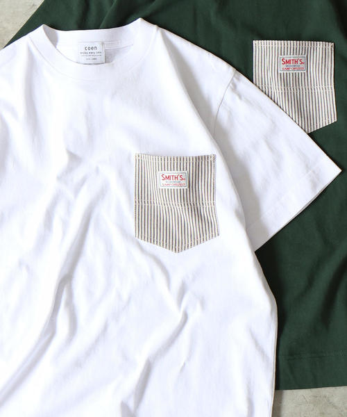 【女性にも人気】SMITH別注ポケットTシャツ19SS(一部WEB限定カラー)