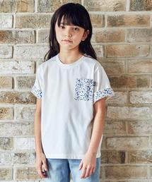 【ジュニア】フラワーポケットTシャツ