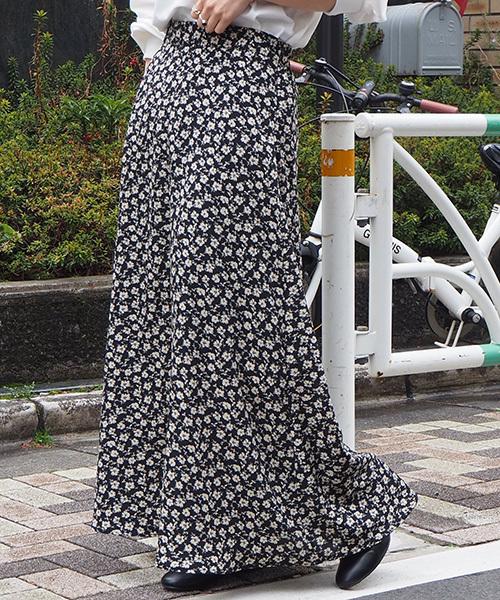 tiptop(ティップトップ)の「【web限定アイテム】アソートAラインロングスカート(スカート)」|ブラック