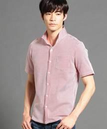 HIDEAWAYS NICOLE(ハイダウェイニコル)のストライプ柄半袖カットソーシャツ(シャツ/ブラウス)