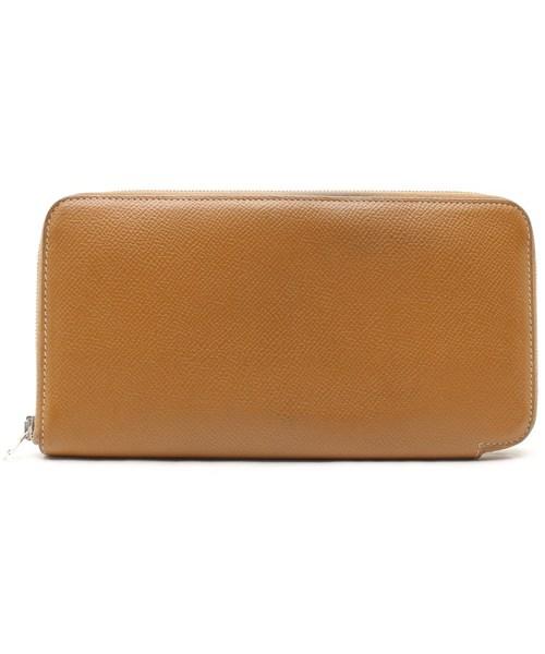 最安値級価格 アザップシルクイン ラウンドファスナー長財布(□V刻印), ナチュレルSPゲルクリームの店健美 cee03228