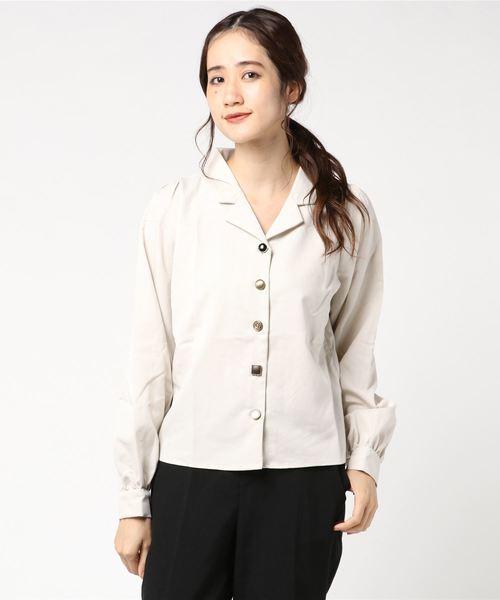色々釦長袖シャツ