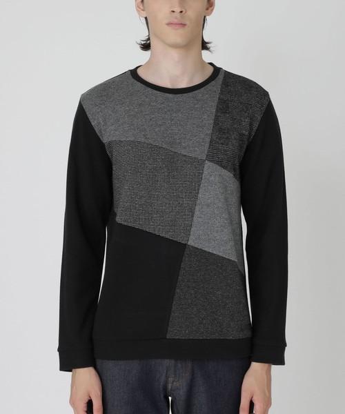 非常に高い品質 ブリティッシュパッチワークカットソー(Tシャツ BLACK/カットソー)|BLACK LABEL LABEL LABEL CRESTBRIDGE(ブラックレーベル・クレストブリッジ)のファッション通販, 【GINGER掲載商品】:22703f7f --- fahrservice-fischer.de