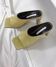 【chuclla】Square -toe round cut open sandal sb-6 chs12ライトイエロー