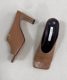 【chuclla】Square -toe round cut open sandal sb-6 chs12ブラウン