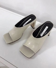 【chuclla】Square -toe round cut open sandal sb-6 chs12オフホワイト