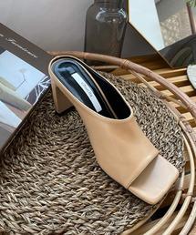 【chuclla】Square -toe round cut open sandal sb-6 chs12ウィート