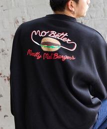 AMERICAN SHOP SIGN/アメリカンショップサイン 別注 ヘビーウェイト裏起毛 オーバーサイズプルオーバースウェット/CAR WASH/Meatty Meat Burger/Sparky/YOU'LL LIKE ITブラック系その他