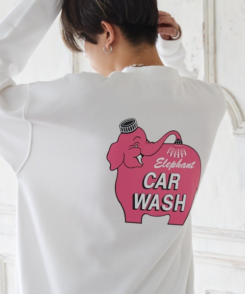 AMERICAN SHOP SIGN/アメリカンショップサイン 別注 ヘビーウェイト裏起毛 オーバーサイズプルオーバースウェット/CAR WASH/Meatty Meat Burger/Sparky/YOU'LL LIKE IT